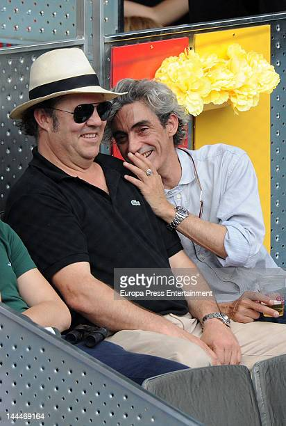 Leo Blakstad and Micky Molina attend Mutua Madrilena Madrid Open on May 13 2012 in Madrid Spain