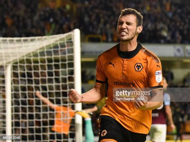 Leo Bonatini of Wolverhampton Wanderers celebrates after scoring a goal to make it 2-0 during the Sky Bet Championship match between Wolverhampton...