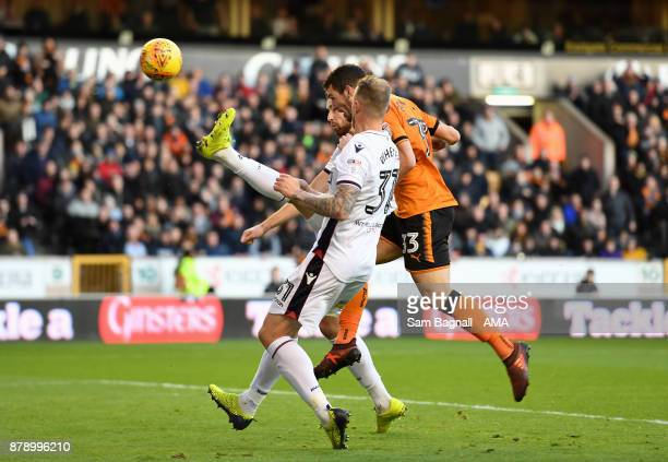 Leo Bonatini of Wolverhampton Wanderers scores a goal to make it 20 during the Sky Bet Championship match between Wolverhampton and Bolton Wanderers...
