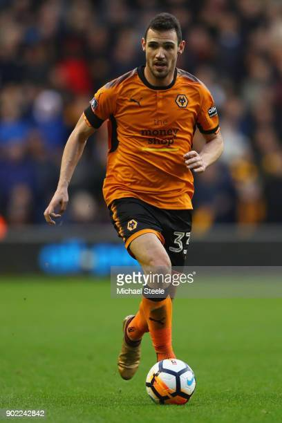 Leo Bonatini of Wolves during the Emirates FA Cup Third Round match between Wolverhampton Wanderers and Swansea City at Molineux on January 6 2018 in...