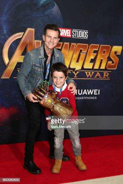 Leo Campbell and David Campbell attend the Avengers: Infinity War Special Event Screening on April 24, 2018 in Sydney, Australia.