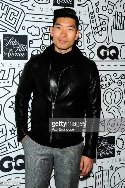 Leo Chan attends the Saks downtown men's opening at Saks Downtown Men's on February 22 2017 in New York City