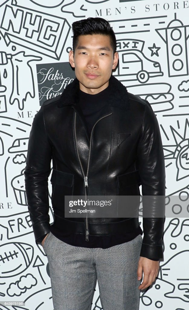 Leo Chan attends the Saks Downtown Men's opening at Saks Downtown Men's on February 22, 2017 in New York City.