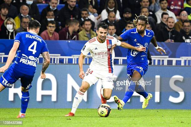 Leo DUBOIS - 11 Gerson RODRIGUES during the Ligue 1 Uber Eats match between Lyon and Troyes at Groupama Stadium on September 22, 2021 in Lyon, France.