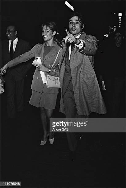 Leo Ferre on stage in France in 1967 Nathalie and Alain Delon
