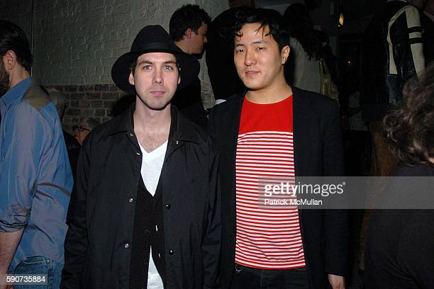 Leo Fitzpatrick and Benjamin Cho attend Eric Villency hosts The Stephen Petronio Company Benefit Afterparty at Public on March 22 2005 in New York...