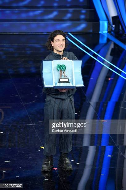 Leo Gassman is awarded during the 70° Festival di Sanremo at Teatro Ariston on February 07 2020 in Sanremo Italy