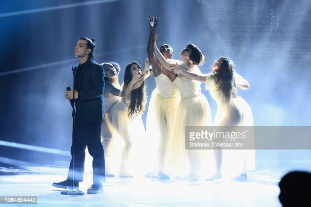 Leo Gassmann attends X Factor tv show at Teatro Linear Ciak on November 22 2018 in Milan Italy