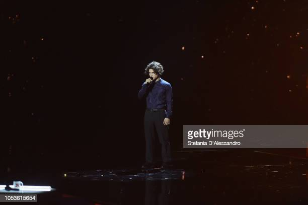 Leo Gassmann attends X Factor tv show at Teatro Linear Ciak on October 25 2018 in Milan Italy