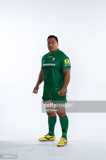 Leo Halavatau of London Irish poses for a picture during the BT PhotoShoot at Sunbury Training Ground on August 27 2014 in Sunbury England