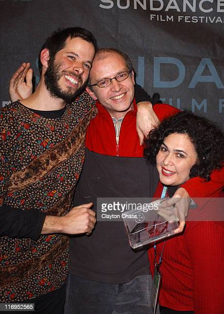 Leo Heiblum Juan Carlos Rulfo director of 'In the Pit' and winner of the World Cinema Jury Prize for Drama and Eugenia Montiel