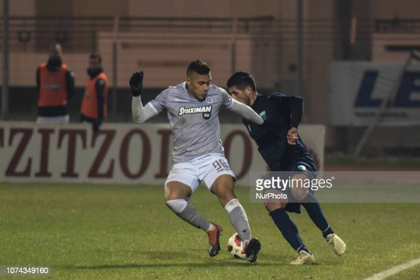Leo Jaba of PAOK in action during Greece Super League Football match between APO Levadeiakos and PAOK Thessaloniki in Levadia Municipal Stadium on...
