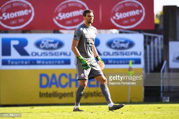 Leo JARDIM of Lille during the preseason soccer friendly match between Lille and Mouscron on July 18 2020 in Mouscron Belgium