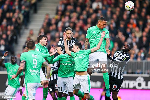 Leo Lacroix of SaintEtienne during the French Ligue 1 match between Angers and Saint Etienne on November 27 2016 in Angers France