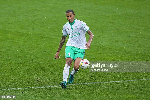 Leo Lacroix of Saint-Etienne during the Ligue 1 match between SM Caen and AS Saint-Etienne at Stade Michel D'Ornano on October 23, 2016 in Caen,...