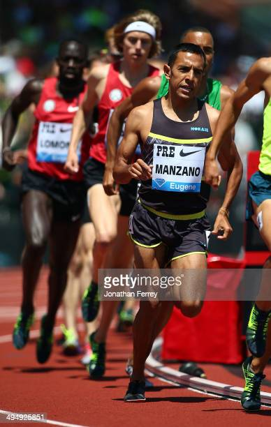 Leo Manzano of the United States competes in the International Mile during day 2 of the IAAF Diamond League Nike Prefontaine Classic on May 31 2014...