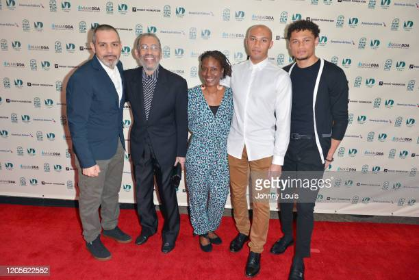 Leo Manzari John Manzari Tracy Hopkins and director John Carluccio from Documentary film 'Maurice Hines Bring Them Back' are seen during 37th Annual...