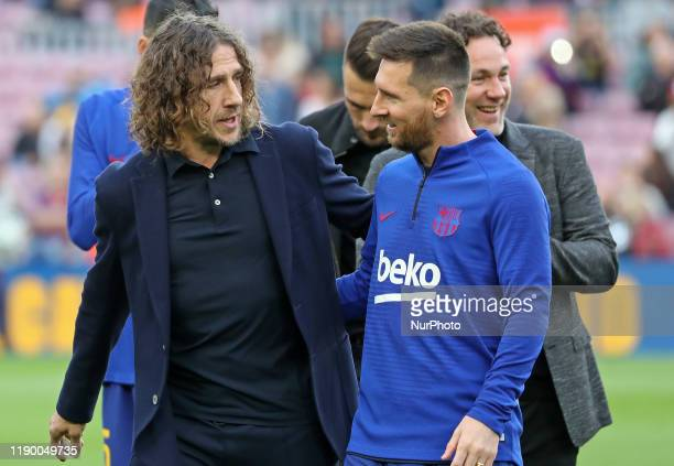 Leo Messi and Carles Puyol during the match between FC Barcelona and Deportivo Alaves, corresponding to the week 18 of the Liga Santander, played at...
