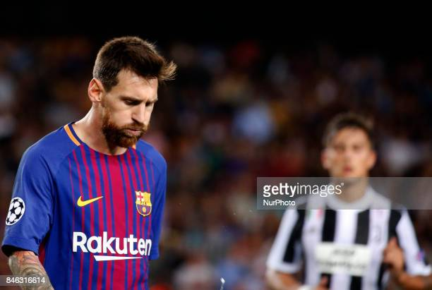 Leo Messi and Paulo Dybala during Champions League match between FC Barcelona v RCD Juventus in Barcelona on September 12 2017