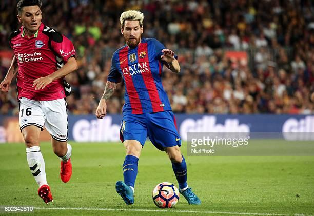 Leo Messi and Torres during La Liga match between FC Barcelona v Alaves in Barcelona on September 10 2016