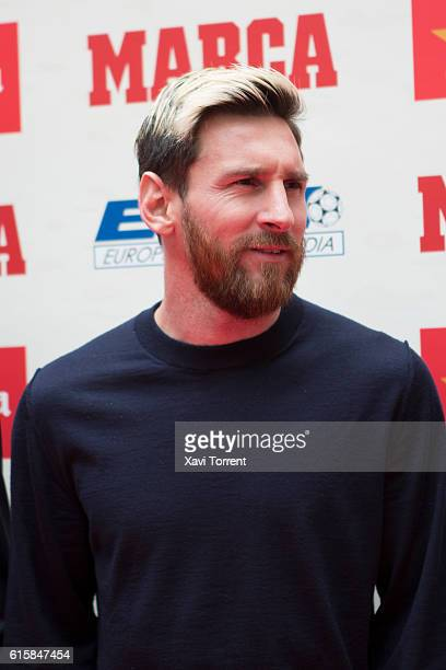 Leo Messi attends the 'Balon de Oro' award on October 20 2016 in Barcelona Spain