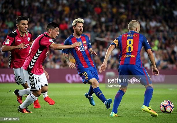 Leo Messi during La Liga match between FC Barcelona v Alaves in Barcelona on September 10 2016