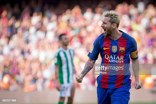Leo Messi during La Liga match between FC Barcelona v Betis in Barcelona on August 20 2016
