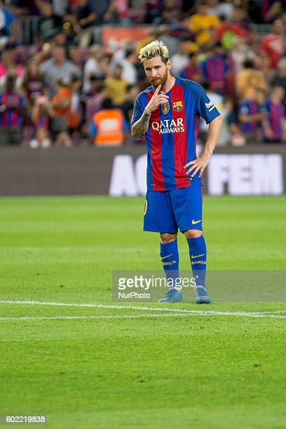 Leo Messi during La Liga match between FC Barcelona v D Alaves in Barcelona on September 10 2016