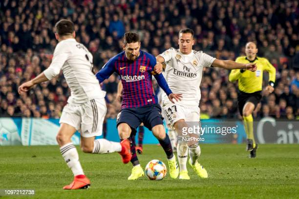 Leo Messi during the Copa del Rey match between FC Barcelona and Real Madrid at Camp Nou Stadium in Barcelona Catalonia Spain on February 6 2019