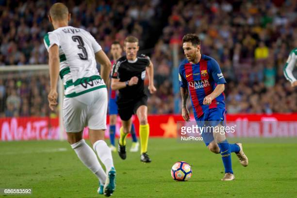 Leo Messi during the Liga match betwen FC Barcelona and SD Eibar at Camp Nou stadium in Barcelona Spain on May 21 2017