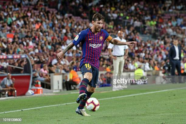 Leo Messi during the match between FC Barcelona and Deportivo Alaves corresponding to the week 1 of que spanish league played at the Camp Nou on 18th...