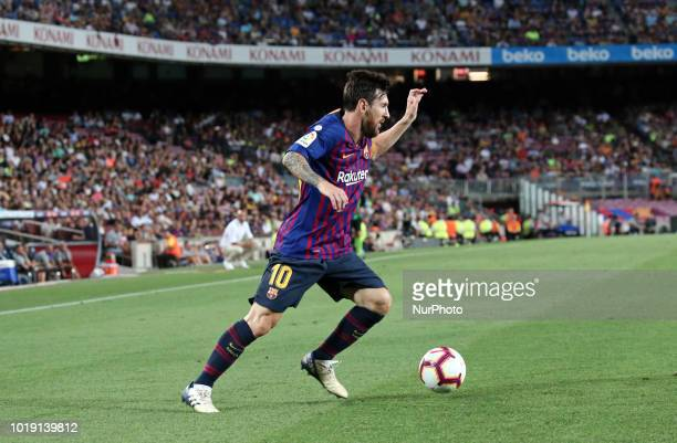 Leo Messi during the match between FC Barcelona and Deportivo Alaves, corresponding to the week 1 of que spanish league, played at the Camp Nou, on...