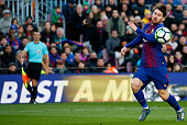 leo messi during match between fc