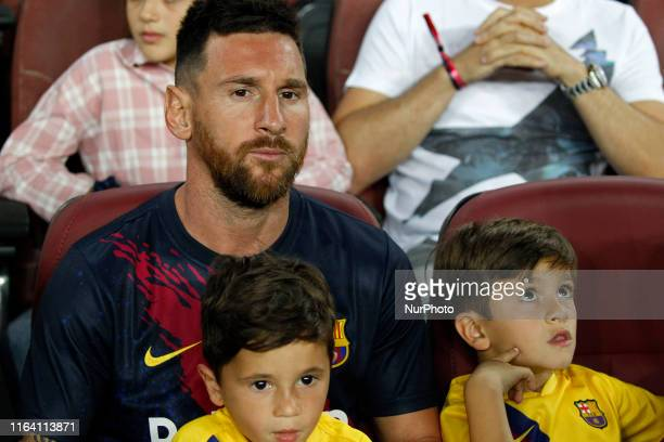 Leo Messi during the match between FC Barcelona and Real Betis Balompie corresponding to the week 2 of the Liga Santander played at the Camp Nou...