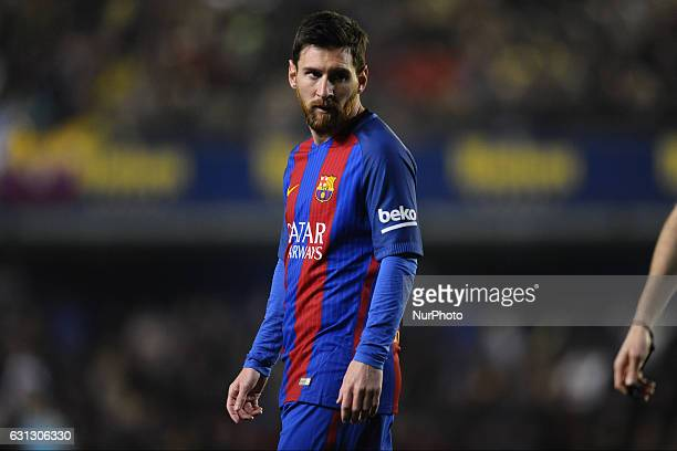 Leo Messi during the match between Villarreal CF against FC Barcelona, week 17 of La Liga 2016/17 in Ceramica stadium, Villarreal, SPAIN - 8th...