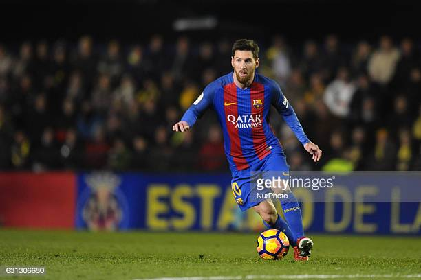 Leo Messi during the match between Villarreal CF against FC Barcelona week 17 of La Liga 2016/17 in Ceramica stadium Villarreal SPAIN 8th January of...