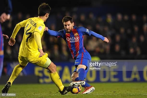 Leo Messi during the match between Villarreal CF against FC Barcelona week 17 of La Liga 2016/17 in Ceramica stadium Villarreal SPAIN 8th January of...