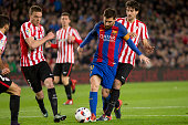 leo messi during spanish kings cup