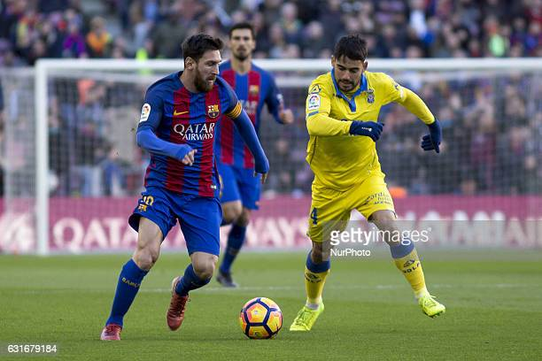 Leo Messi during the spanish league match between FC Barcelona and Las Palmas in Barcelona on January 14 2017
