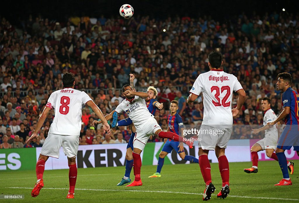 FC Barcelona v Sevilla: Super Cup, Second Leg : News Photo