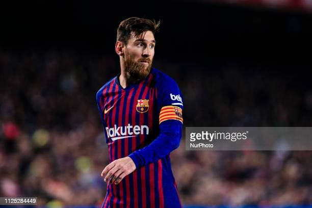 10 Leo Messi of FC Barcelona during the Spanish championship La Liga football match between FC Barcelona and Real Valladolid on 16 of February 2019...