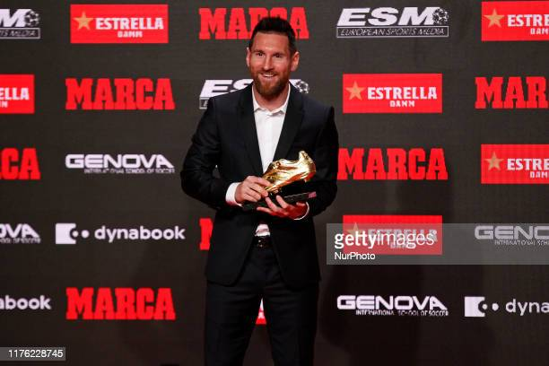 Leo Messi receives his sixth Golden Boot on 16th October 2019 in Barcelona Spain Photo Joan Valls/Urbanandsport /NurPhoto