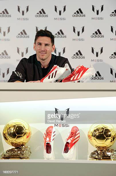 Leo Messi speaks at adidas press conference to mark the launch of the Messi  Gallery by 565e0ea23233f