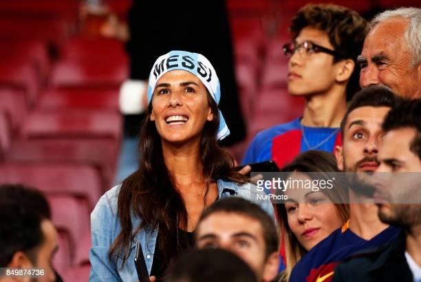 Leo Messi supporter during La Liga match between FC Barcelona v SC Eibar in Barcelona on September 19 2017