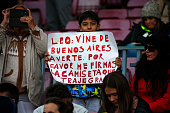 leo messi supporter during match between