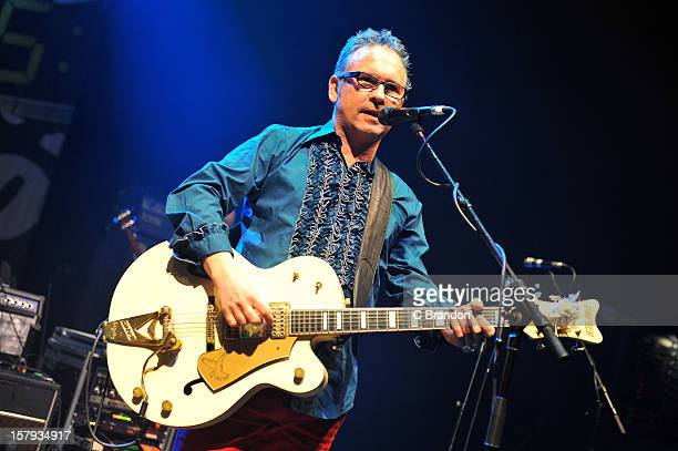 Leo Moran of The Saw Doctors performs on stage at O2 Shepherd's Bush Empire on December 7 2012 in London England