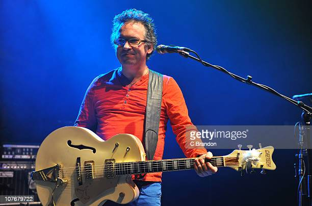 Leo Moran of The Saw Doctors performs on stage at Shepherds Bush Empire on December 18 2010 in London England