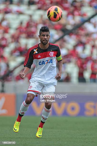 Leo Moura of Flamengo, in action during the match between Flamengo and Portuguese for the Brazilian Championship Serie A in 2013 Castelao Arena...