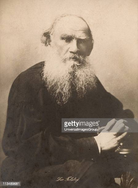 Leo Nikolayevich Tolstoy Russian philosopher and novelist as an old man. Photograph.