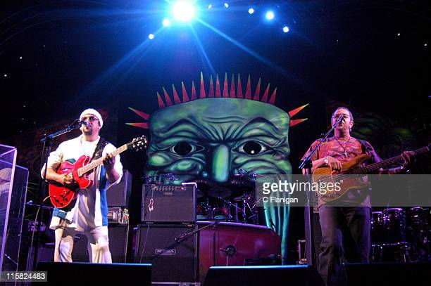 Leo Nocentelli and George Porter of The Meters during 2006 Vegoose at Night Concert Series - The Meters - October 30, 2006 at MGM Grand Garden Arena...